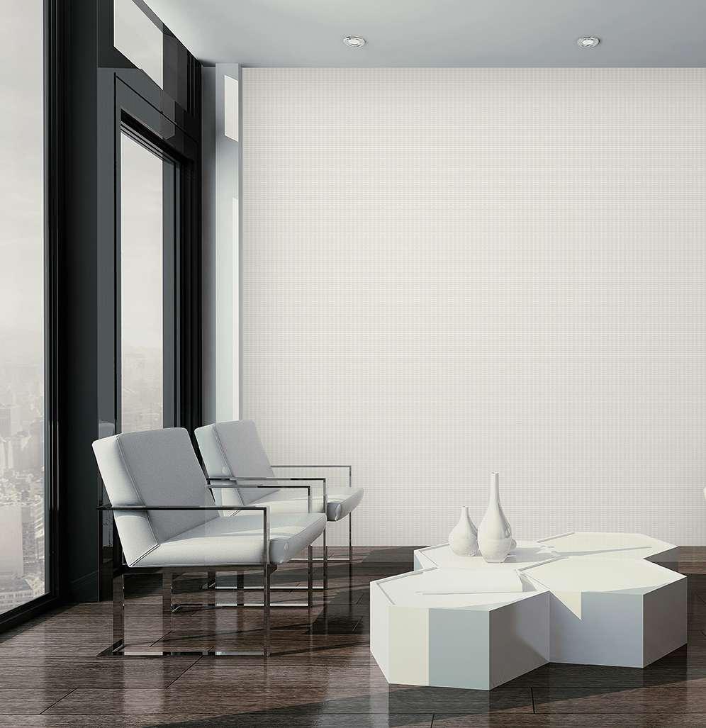 Giấy dán tường màu trắng ngà thường được sử dụng cho nhà theo phong khách hiện đại