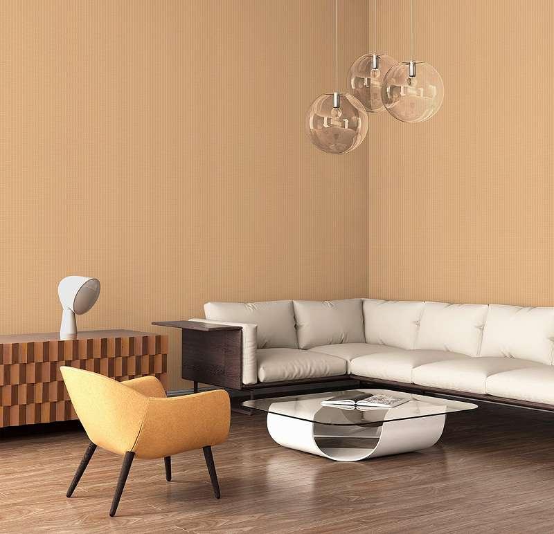 Mẫu giấy dán tường vân sọc dọc màu da cam đơn giản tinh tế và sang trọng