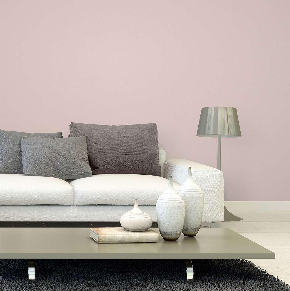 Mẫu giấy dán tường màu hồng nhạt thích hợp dán cho phòng ngủ bé gái