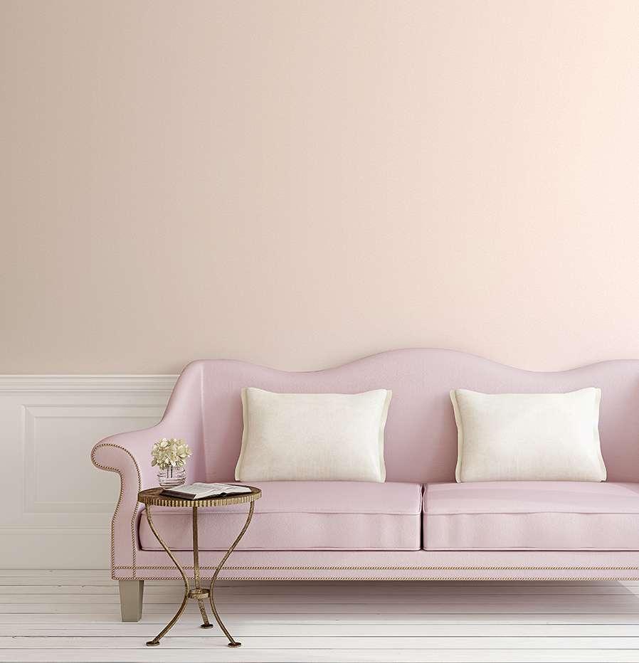 Giấy dán tường trơn 1 màu hồng nhạt