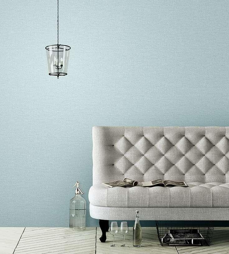 Mẫu giấy dán tường màu xanh thiên thanh rất tươi và mát