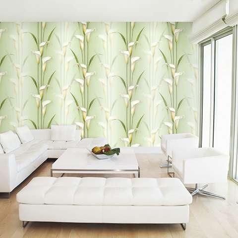 Giấy dán tường 3D thường được sử dụng trang trí cho phòng khách, phòng ngủ
