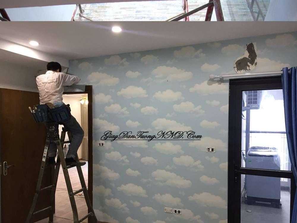 thợ dán tường lành nghề