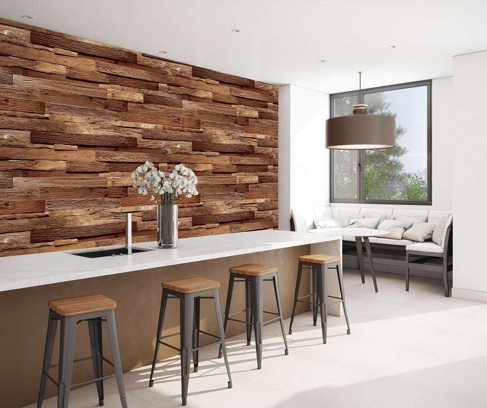 Giấy dán vân gỗ phù hợp sử dụng cho rất nhiều không gian từ nhà ở đến các hàng quán