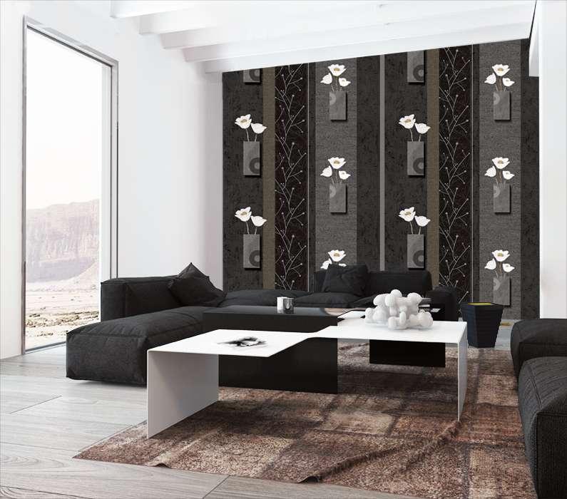 Giấy dán tường màu đen rất phù hợp với người có bản mệnh mộc