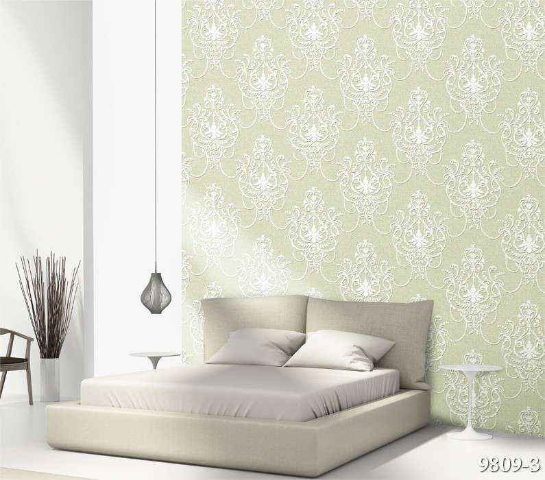 Những người mệnh hỏa rất thích hợp dán điểm nhấn phòng ngủ với mẫu giấy màu xanh lá cây