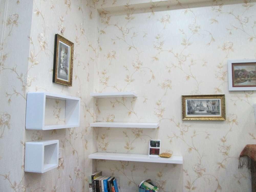 Mẫu giấy dán tường phòng ngủ màu vàng nhạt của Lohmann cao cấp mã CS87702