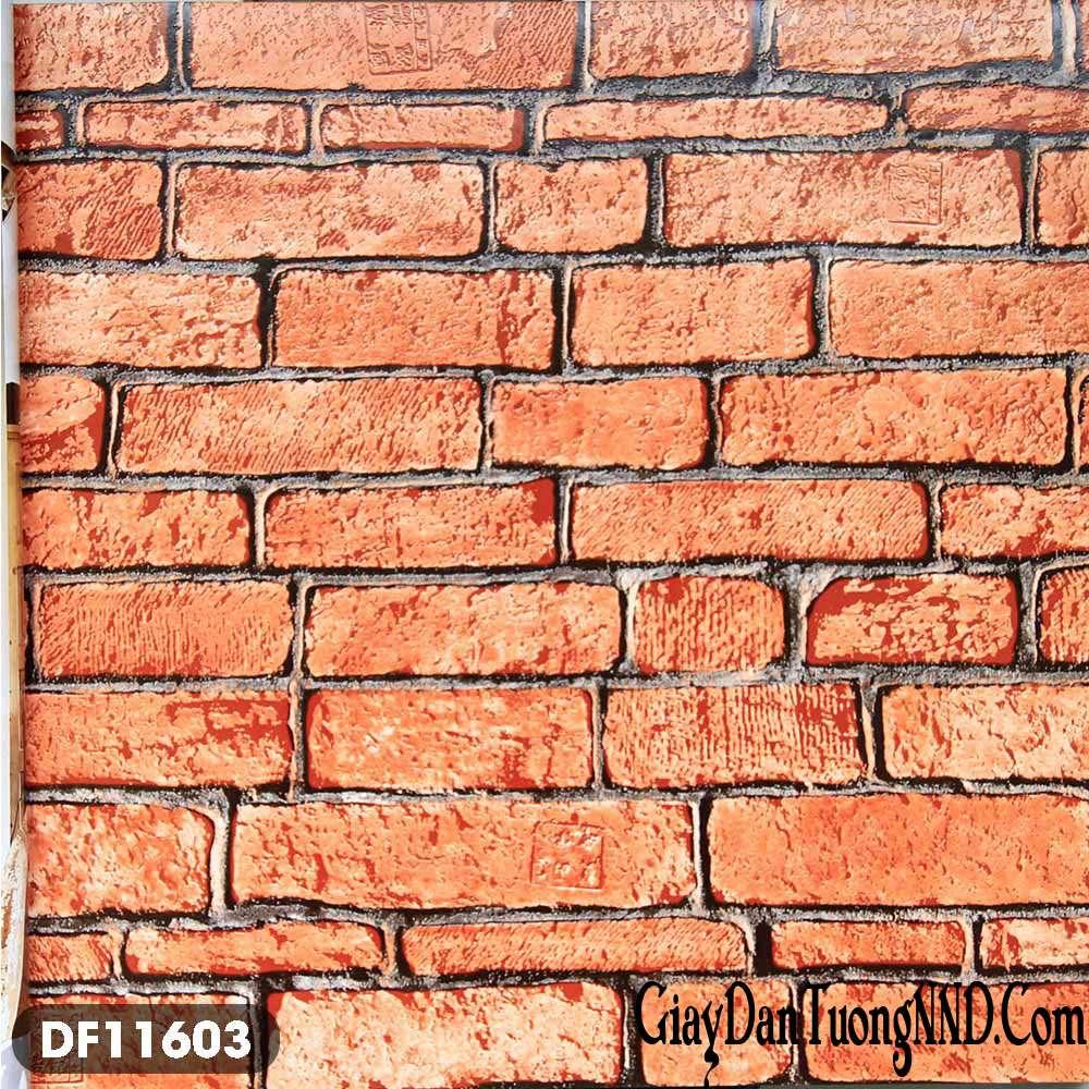 Giấy dán tường gạch đỏ mã DF11603