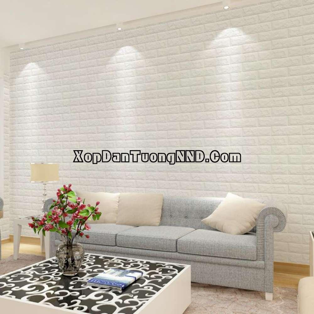 Xốp dán tường 3D đang là sự thay thế và bù đắp hoàn hảo cho các khiếm khuyết của giấy dán tường