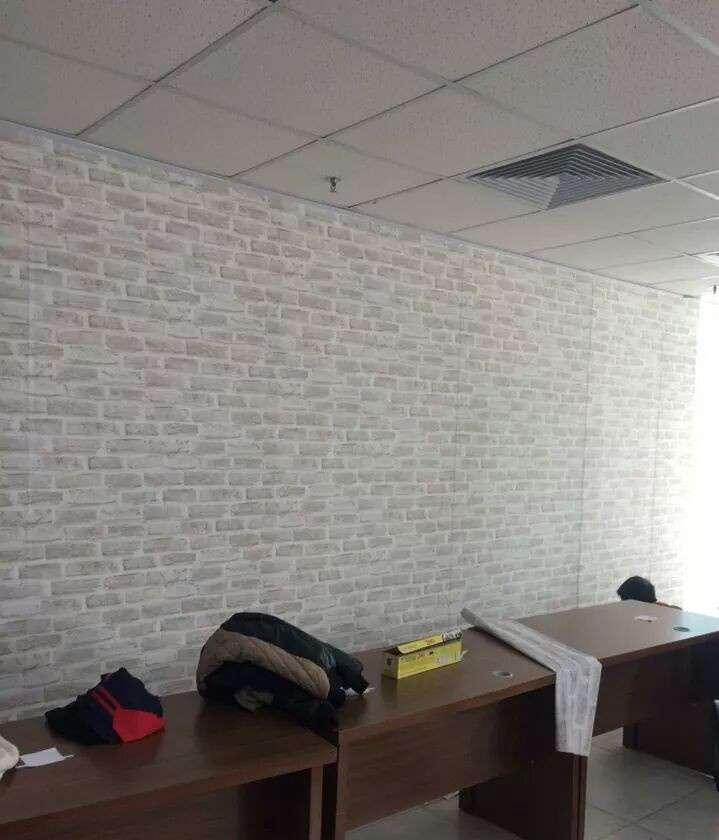 Giấy dán tường giả gạch trắng cho không gian phòng thêm sang trọng và ấn tượng