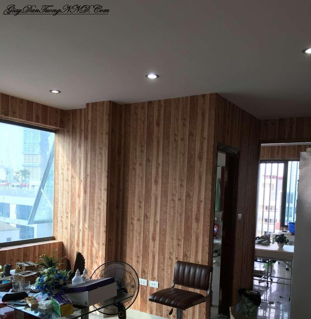 Trang trí nhà bằng giấy dán tường vân gỗ của Ý, gỗ giả mà đẹp hơn gỗ thật