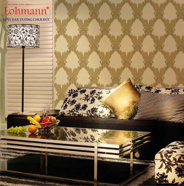 Trang trí phòng khách với giấy dán tường Đức