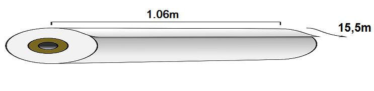 Kích thước 1 cuộn giấy dán tường Hàn Quốc chuẩn có quy cách như sau: Rộng 1.06m x Dài 15.5m = 16.5m2