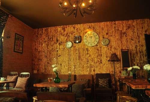 Giấy dán tường quán cafe