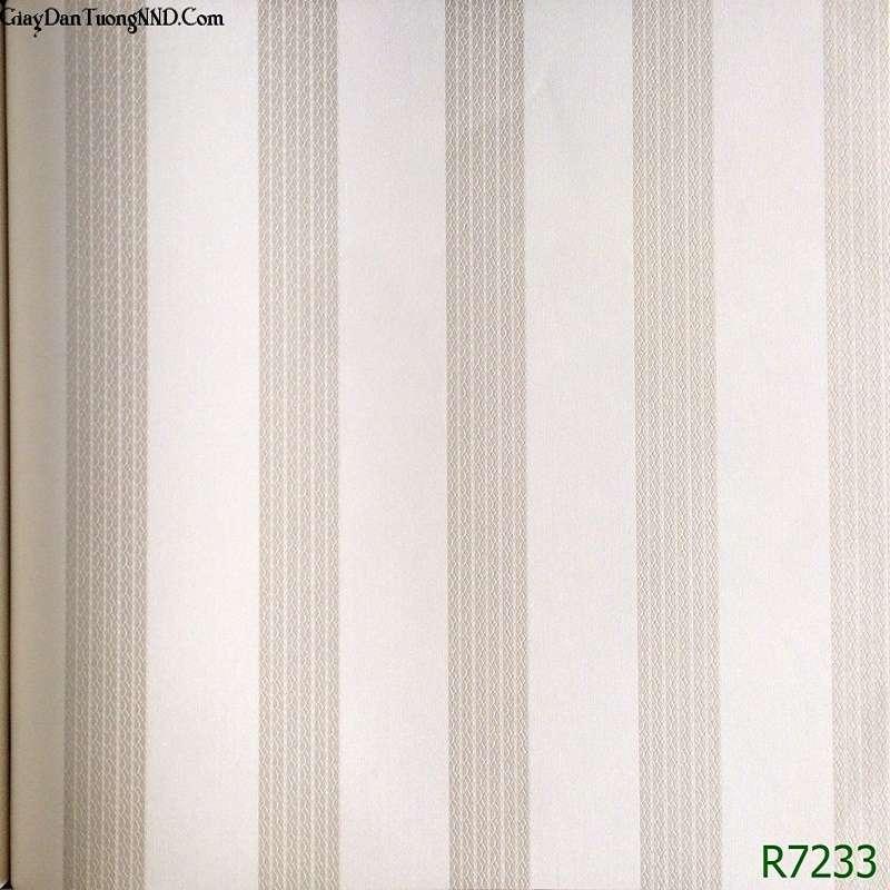 Mẫu giấy dán tường vân dọc giá rẻ của Ý mã R7233