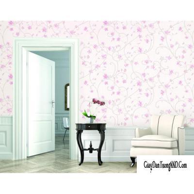 Giấy dán tường hoa màu tím mã 88056-2