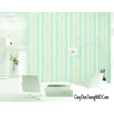 Giấy dán tường màu xanh nhạt có họa tiết mã 88064-6