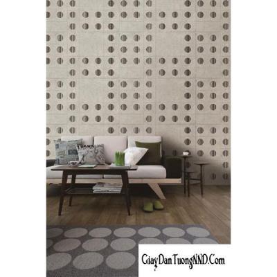 Giấy dán tường chấm ô vuông mã 82338-1