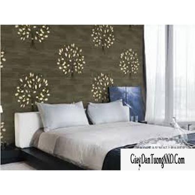 Giấy dán tường hình cây hoa trên nền màu nâu mã: 59224-2
