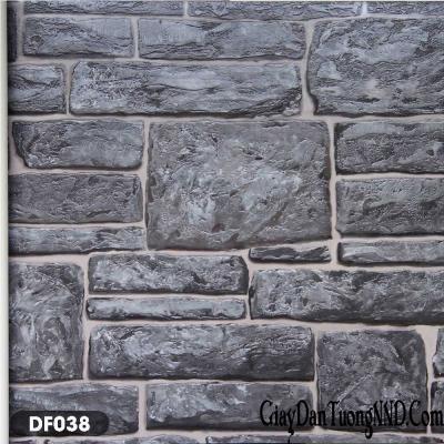 Giấy dán tường giả gạch vồ xây thô mã DF038