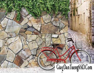 Giấy dán tường giả đá mã 87017-3