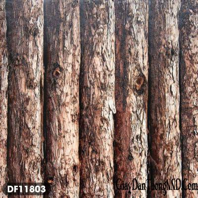Giấy dán tường giả ván gỗ thô mã DF11803