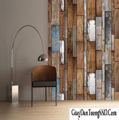 Giấy dán tường giả gỗ cánh xoan mã 87007-1