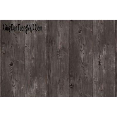 Giấy dán tường giả gỗ tối màu mã 87005-4