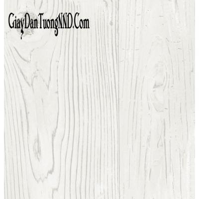 Giấy dán tường giả gỗ trắng nhạt vân đẹp mã 87005-1