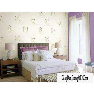 Giấy dán tường hình hoa màu tím mã: 59263-1
