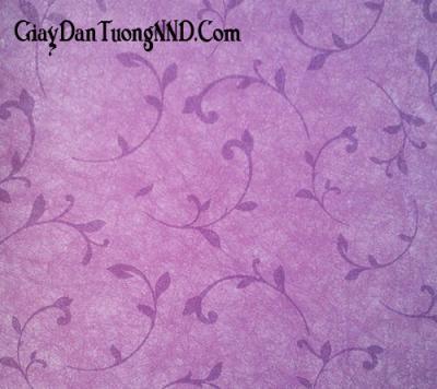 Giấy dán tường hình lá cây nền màu tím của Trung Quốc giá rẻ mã 5017