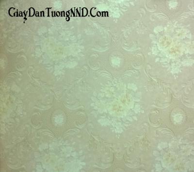 Giấy dán tường hình hoa màu xanh nhạt Trung Quốc giá rẻ mã 9027