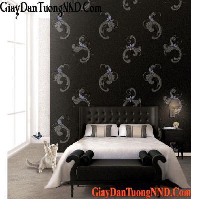 Giấy dán tường màu đen Mã  9242-3