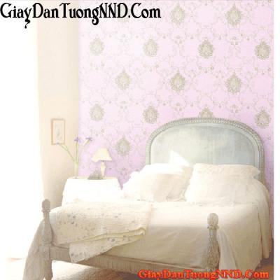 Giấy dán tường màu hồng có họa tiết Mã  9610-2