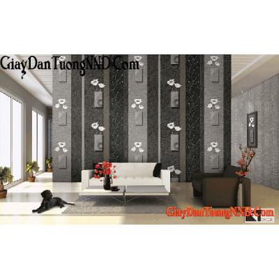 Giấy dán tường màu đen trắng Mã  9642-2