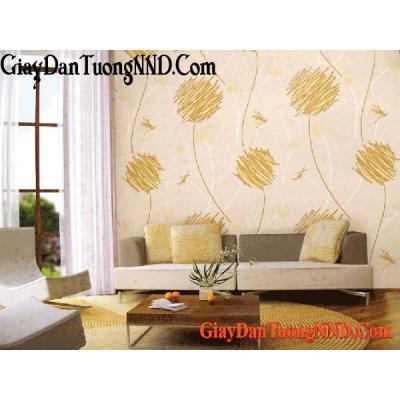 Giấy dán tường hình bóng bay màu vàng Mã  9655-2