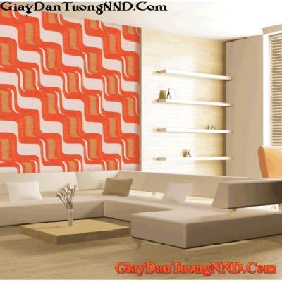 Giấy dán tường màu da cam  Mã  9657-3