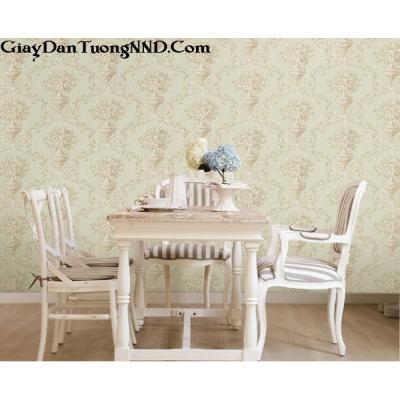 Giấy dán tường hình hoa nền xanh Hàn Quốc Besti mã 82369-1