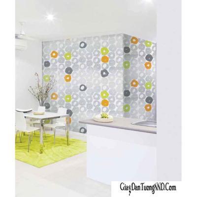 Giấy dán tường hình tròn Hàn Quốc Living mã 70127-2