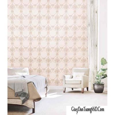 Giấy dán tường cổ điển màu hồng mã 70117-2