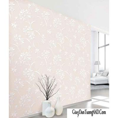 Giấy dán tường hình nhành hoa nhẹ nhàng Hàn Quốc Living mã 70130-2