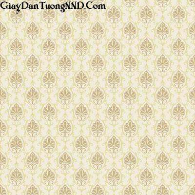Giấy dán tường màu vàng họa tiết hình lá Italino mã T5218