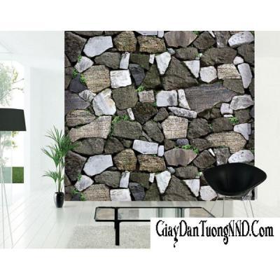 Giấy dán tường giả đá mã 87012-3