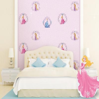 Giấy dán tường hình công chúa cho phòng ngủ bé mã D1035-1