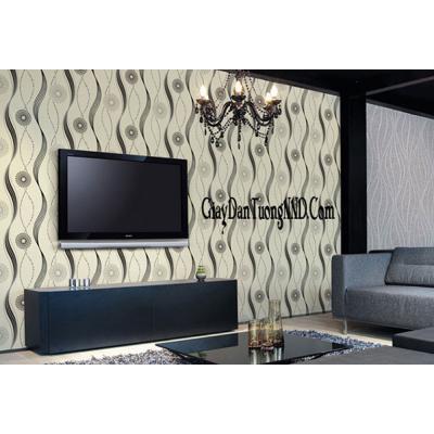 Giấy dán tường vân sóng dọc trắng đen mã B4441 -2 thuộc danh mục Giấy dán tường phòng khách