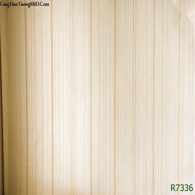 Giấy dán tường kẻ sọc vàng mã R7136