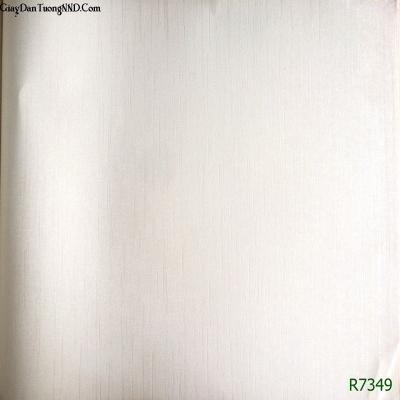 Giấy dán tường Ý trơn trắng mã R7349