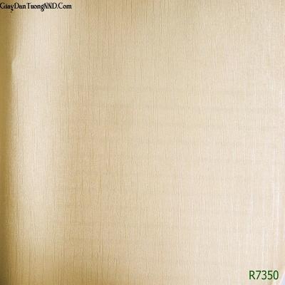 Giấy dán tường màu vàng lông gà mã R7350