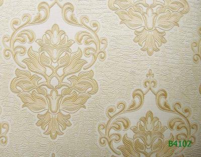 Giấy dán tường cổ điển vàng Ý mã B02