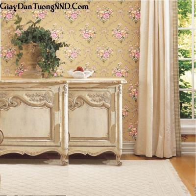 Giấy dán tường hình hoa hồng Ý mã S06